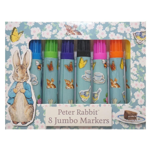 Robert Frederick Peter Rabbit Jumbo Colouring Marker Pens, Pack of 8 - The Celebrity Gift Company