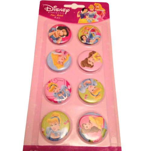 Disney Princess Metal Pins/Badges, Set of 8 by  The Celebrity Gift Company