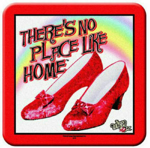 "The Wizard of Oz Ruby Slippers, ""There's No Place Like Home"" 8 Piece Coaster Set - The Celebrity Gift Company"