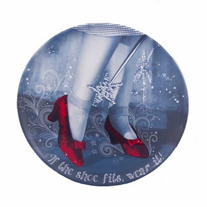 "Wizard of OZ - Red Ruby Slippers 14"" Round Tray - The Celebrity Gift Company"