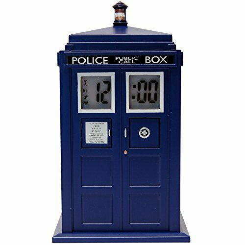 Doctor Who Tardis Digital Projection Alarm Clock - The Celebrity Gift Company