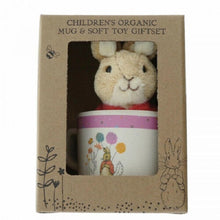 Load image into Gallery viewer, Beatrix Potter Organic Bamboo Mug & Soft Toy Gift Set - Flopsy Bunny - The Celebrity Gift Company
