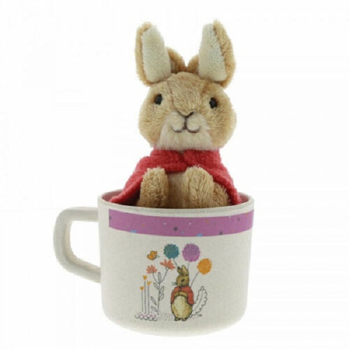 Beatrix Potter Organic Bamboo Mug & Soft Toy Gift Set - Flopsy Bunny - The Celebrity Gift Company