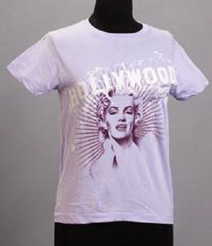 Marilyn Monroe Ladies T-shirt Purple Hollywood, Size S - The Celebrity Gift Company