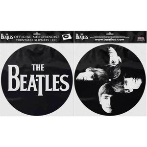 The Beatles Slipmat Set: Drop T Logo & Faces - The Celebrity Gift Company
