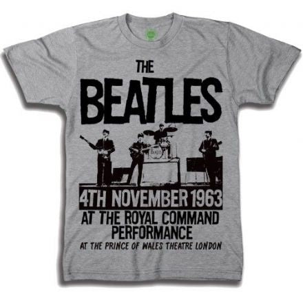 The Beatles Men's Premium Tee: Prince of Wales Theatre, Size XXL - The Celebrity Gift Company