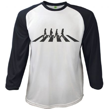 The Beatles Men's Raglan Tee: Abbey Road Crossing (XX-Large) - The Celebrity Gift Company