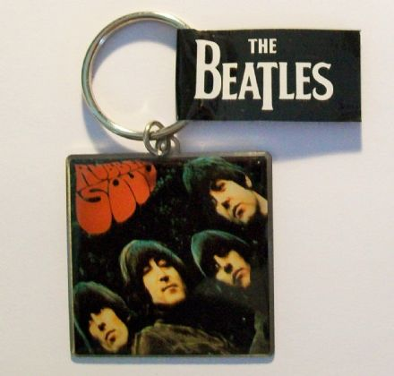 The Beatles – Rubber Soul – Album Cover Metal Keyring - The Celebrity Gift Company
