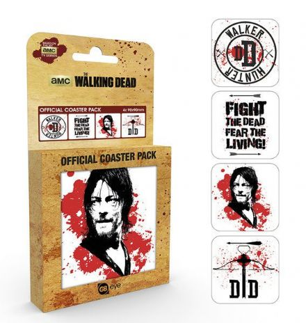 Walking Dead Coaster 4-pack Daryl - The Celebrity Gift Company