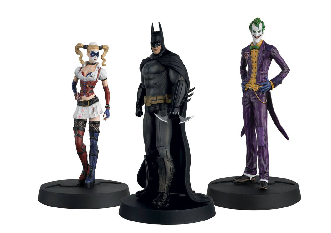 Batman Askham Asylum Hero Collection Statues 1/16 3-Pack 10th Anniversary Box 13 cm - The Celebrity Gift Company