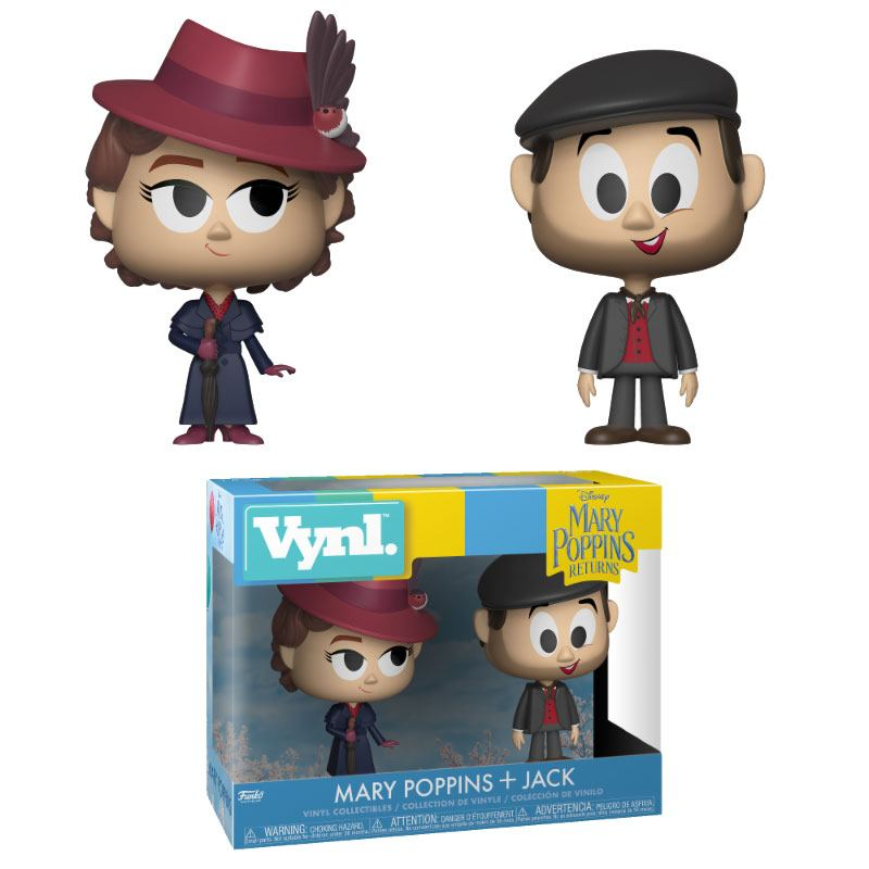 Mary Poppins 2018 VYNL Vinyl Figures 2-Pack Mary & Jack the Lamplighter 10 cm, Lighting by The Celebrity Gift Company