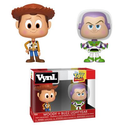 Toy Story VYNL Vinyl Figures 2-Pack Woody & Buzz 10 cm - The Celebrity Gift Company