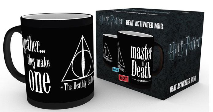 Harry Potter Heat Change Mug Deathly Hallows - The Celebrity Gift Company