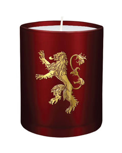 Game of Thrones Glass Candle House Lannister 8 x 9 cm - The Celebrity Gift Company