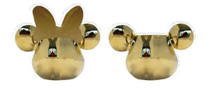 Mickey Mouse Deluxe 3D Salt and Pepper Shaker Gold - The Celebrity Gift Company