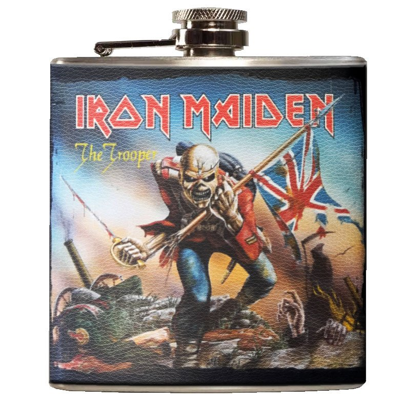 Iron Maiden Hip Flask - The Trouper - The Celebrity Gift Company