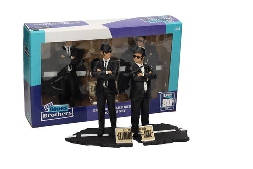 Blues Brothers Movie Icons Statue 2-Pack Jake & Elwood 18 cm - The Celebrity Gift Company