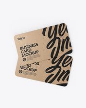Load image into Gallery viewer, Kraft Paper Business Cards (Standard)