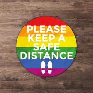 Rainbow Social Distancing Floor Stickers from Paddle Print