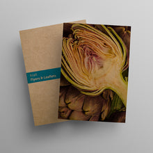 Load image into Gallery viewer, A5 Brown Kraft Paper Leaflets and Flyers at Paddle Print