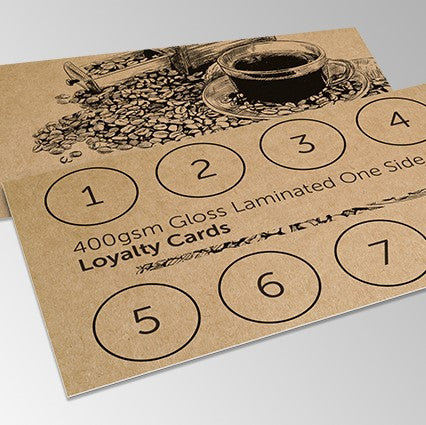 Kraft Loyalty Cards from Paddle Print