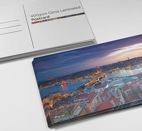Gloss Laminated Postcards by Paddle print