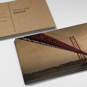 Brown Kraft Paper Postcards from Paddle Print