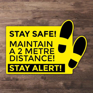Stay Alert Floor Stickers from Paddle Print