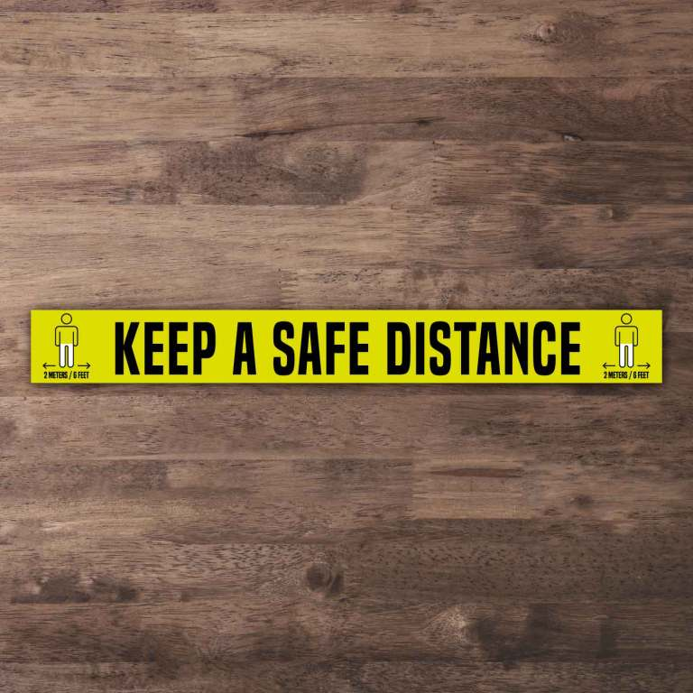 Keep a Safe Distance Floor Stickers