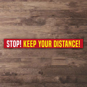 Keep your distance floor stickers Paddle Print