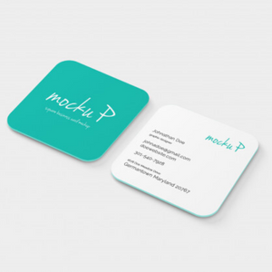 Square Business Cards from Paddle Print
