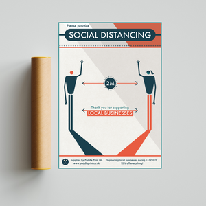 Social Distancing Poster From Paddle Print