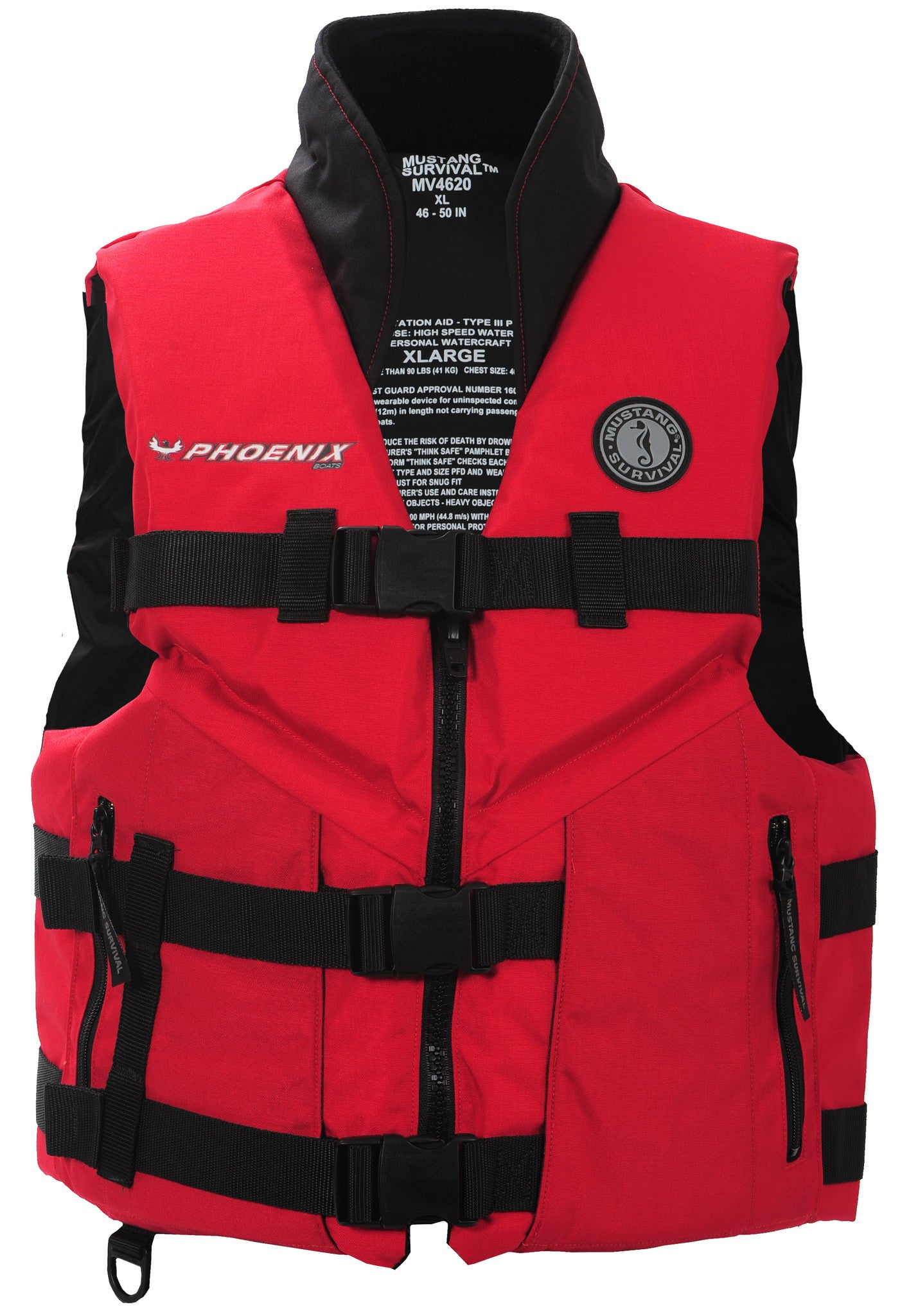 Life jacket phoenix boats apparel for Best inflatable life vest for fishing