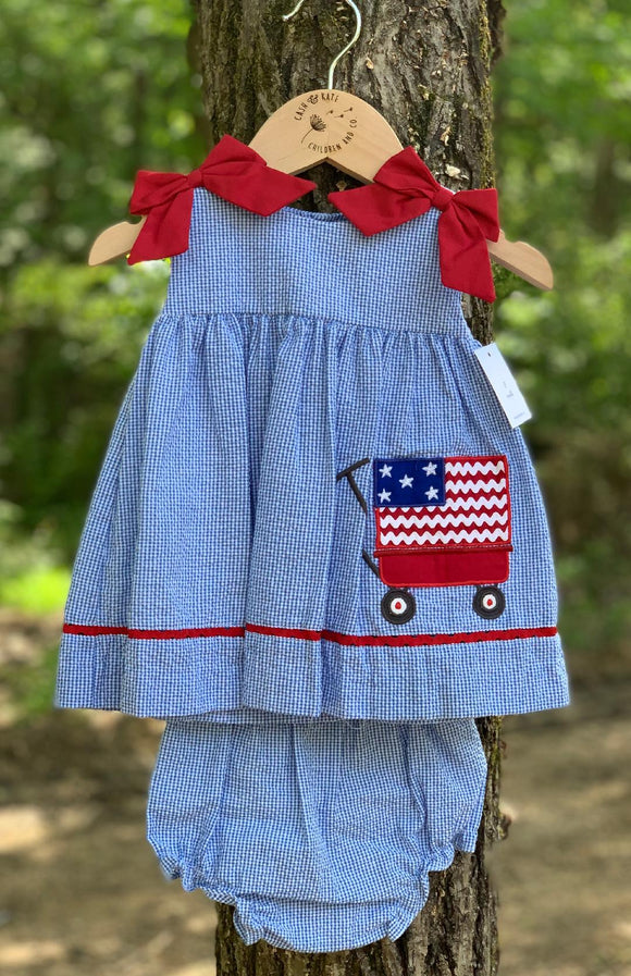American Flag Dress and Bloomers