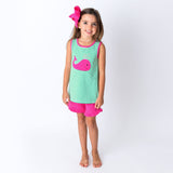Applique Whale Girl's Short Set