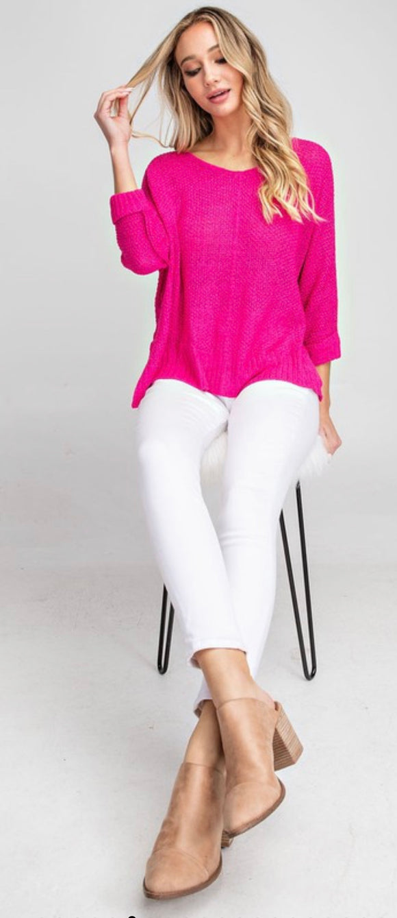 Hot Pink Summer Sweater