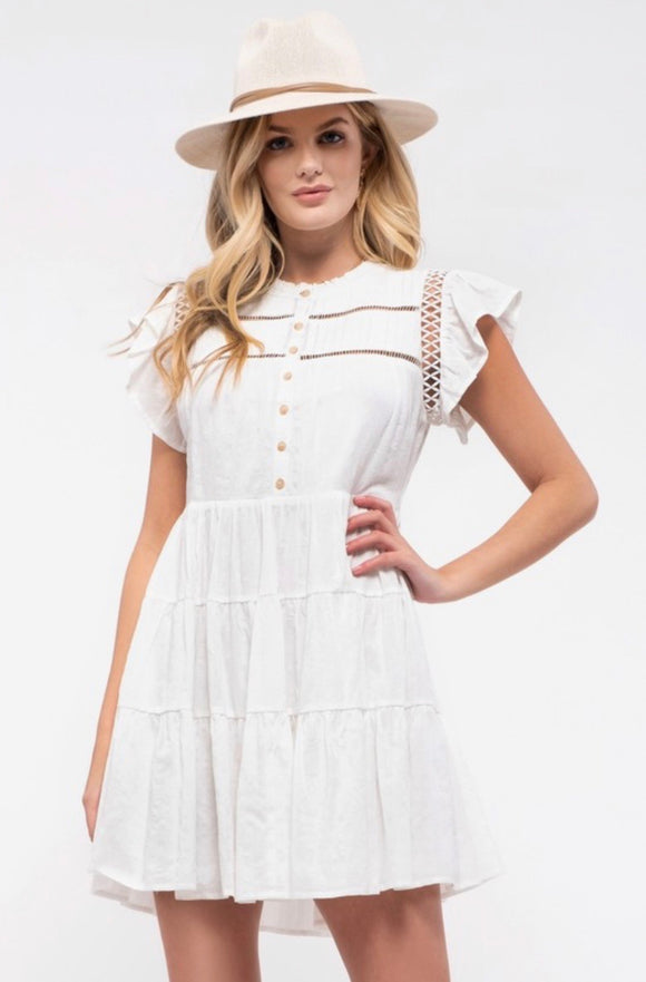 CLEARANCE💥 - White Dress by Blu Pepper