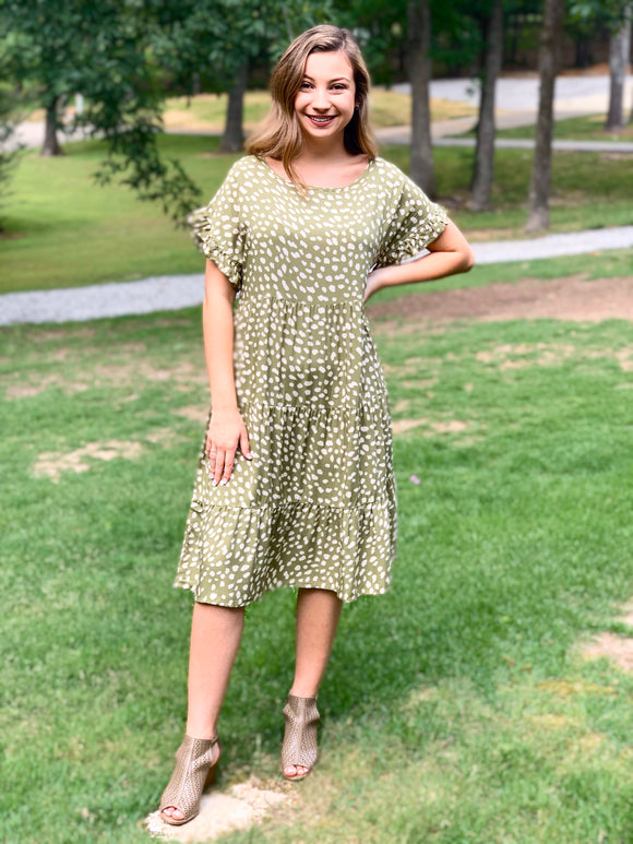 Gorgeous Olive Dress