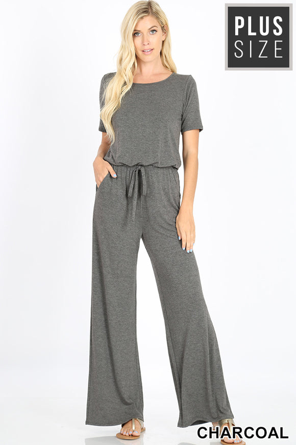 Charcoal Romper - PLUS SIZE