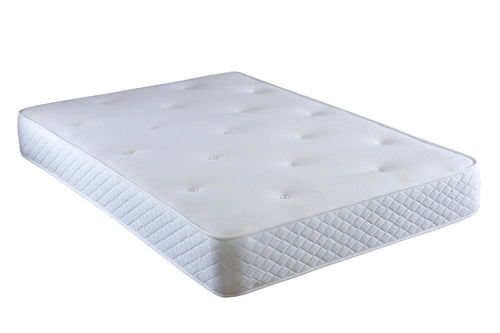 Deep quilted coil spring mattress