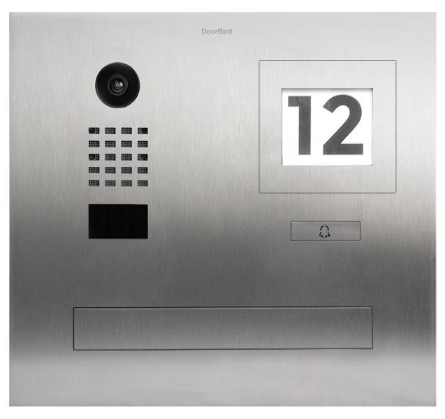 DoorBird IP Video Türstation D2101FPBI, Mauerdurchwurfanlage