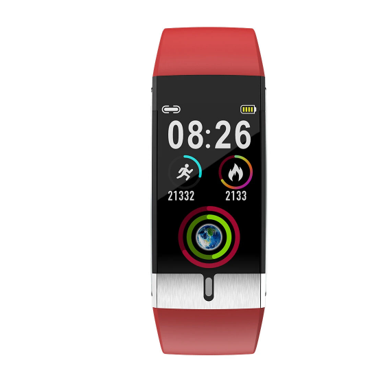 Red Fitness Tracker Smart Watch