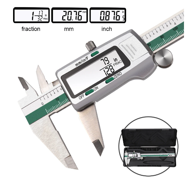 Best Digital Caliper Stainless Steel 6 Inches with Box