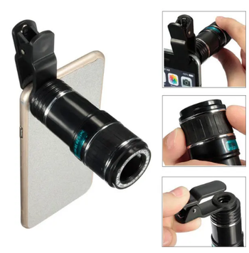 ZoomHD™ 12x Zoom Telescope Lens for iPhone, Samsung and Android Smartphones
