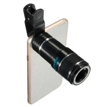 12x Zoom Telescope Lens for iPhone, Samsung and Android Smartphones