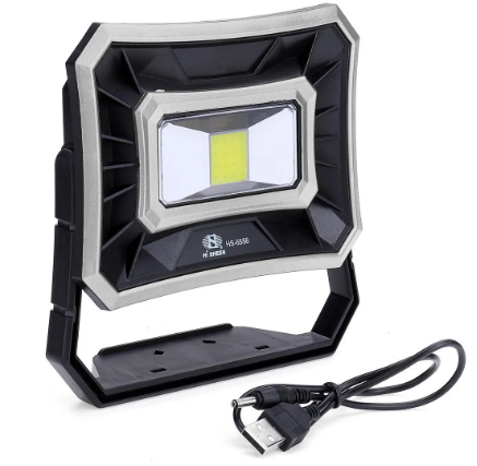 Outdoor Camping Emergency Solar Spotlight Silver