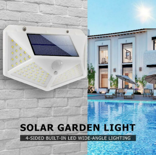 Solar Led Wall Light for Outdoor Garden and Security