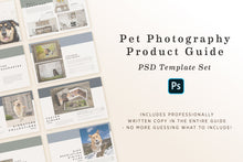 Load image into Gallery viewer, Product Guide PSD Template for Pet Photography