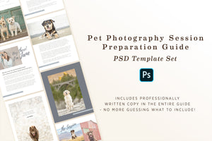 Session Preparation PSD Template for Pet Photography
