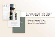 Load image into Gallery viewer, Inquiry Guide PSD Template for Pet Photography